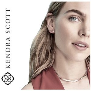 NWT Kendra Scott Graham rhodium plated necklace